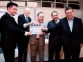 Leon Tan and Greg Coote executive directors, DragonSlate, with Ybhg Datuk Haji Md Afendi Hamdan, Chairman, FINAS, Jamaludin Bujang, CEO, and MAVCAP, Kamil Othman VP of MDeC