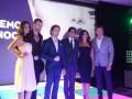 El almuerzo-screening de Telemundo: Marcos Santana, presidente de Telemundo Internacional, con el elenco de dos de sus nuevas producciones, La Reina d