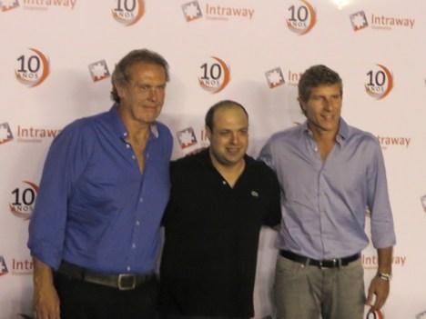 Intraway Gonzalo Bonadeo y Martín Palermo con Rzezak