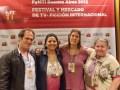 Los autores Pablo Lago, Susana Cardoso, Marta Betoldi y Ana Montes, representantes de Asociación Migré presentes en el FyMTI 2013