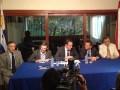 Ignacio Viveros, presidente de la CCP; Leonardo Ramírez, director de Canal U; Federico Perazza, Embajador uruguayo; Pablo Scotellaro, presidente de Canal U; y Luis Reinoso, presidente de Certal Paraguay