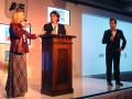 Raquel Martinez, directora comercial de Multichannel Media Sales, Diego Castro y César Sabroso, VP de comunicaciones de A+E Networks Latin America