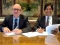 Mauro Valdés, director ejecutivo de TVN, y Marcos Santana, presidente de Telemundo Internacional