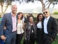 Henri Ringel y Fernando Barbosa de Disney Latin Amerieca (extremos) con buyers: Jessica Rodriguez de Netflix, Analida López y Marcela González, del Grupo Albavisión