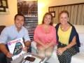 La evolución del negocio audiovisual se ve con KM Services de Panamá: María Elena Paniza y Kareen de Farías, socias, junto a José Luis Rodríguez, VP de Producción de Emotion (Los Angeles), que suma producción original a la distribución de KM