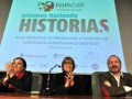Lucrecia Cardoso, presidente del INCAA; Teresa Parodi, ministra de Cultura; y Martín Sabatella, presidente del directorio de la AFSCA (Foto: Analía Ga