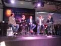 Tomás Yankelevich, Adrián Suar, Ernesto Martelli, Darío Gallo y Sebastián Campanario, el moderador del panel de medios, en IAB Now 2014