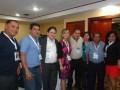 Luz Marina Arango y Gabriel Levy, con representantes de Universal Cable, Arce Cable, Ovnivision y otros operadores de El Salvador