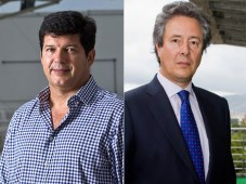 Gonzalo Córdoba Mallarino, Presidente de Caracol Televisión, y Alberto Pecegueiro, Director General de Globosat