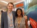 Cedric Hazard, responsable de distribución, y Audrey Kamga, Sales Manager de Arte Sales
