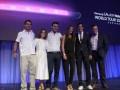Carlos Mateus, VP Mobiles, Samsung Colombia; Kika Vargas, diseñadora de moda, Fidel Mendoza, arquitecto; Siad Char, presentadora; Luis Arturo Vargas,