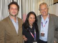 Nicolas Atlan, Co-CEO; Mevelyn Noriega, SVP sales; y Mike Young, CEO, en el último Mipcom