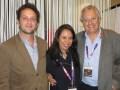 Nicolas Atlan, Co-CEO; Mevelyn Noriega, SVP sales; y Mike Young, CEO, en el último Mipcom
