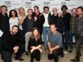 Quentin Tarantino junto al elenco de The Hateful Eight