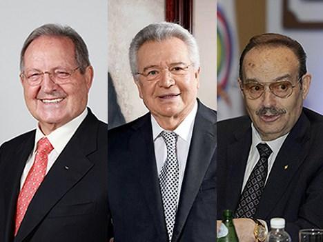 Mexico postulantes cadenas de TV Olegario Vázquez Raña, Francisco Aguirre Gómez y Mario Vázquez Raña