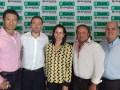 Victor Kong, presidente de Cisneros Interactive; Lucas Jinkis, co-director de ItClickVideo; Adriana Cisneros, CEO de Cisneros; Diego Waciarz, co-direc