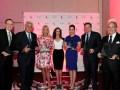 Los premiados en los 12 Brandon Tartikoff Awards: Jonathan Murray, presidente de la junta directiva de Bunim/Murray Productions; Jay Leno, ex-anfitrió