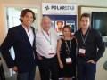 Polar Star: Cristian Sessa, Carlos y Diego Kargauer, y Salette Stefanelli, de la oficina de Miami