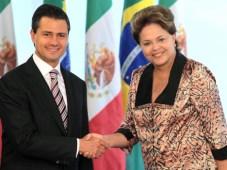 Enrique Peña Nieto junto a Dilma Rousseff