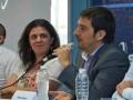 Lucrecia Cardoso, del INCAA, y Matías Bianchi, de Arsat