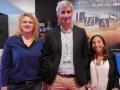 Telefe International: Daniel Otaola, gerente de ventas internacionales, Meca Salado Pizzarro, marketing, y Rosario Cosentino, ejecutiva de ventas