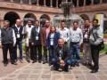 Jesús Angulo con todo el equipo de Cable Visión en Cusco