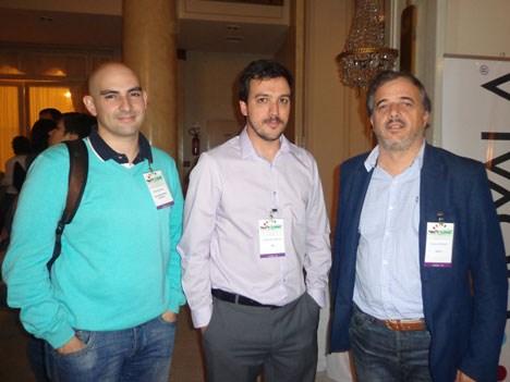 Guillermo Bertossi y Sergio Naredo, de FIC Latin America, junto a Horacio Giudice, de Level3