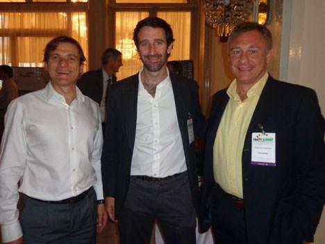 Sergio Canavese, de Discovery; Lucas Costantini, de Intec Global Solutions, y Alejandro Grosvald, de Encompass