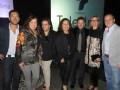 El screening de Telefilms: Adrián Echegoyen, adquisiciones, y Jaime Aguilar-Álvarez, director de adquisiciones (bordes), más Erika Rodríguez Echegollé