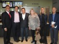 El Screening de Lionsgate: Nesim Hason, CEO, New Films (USA); Peter Iacono, managing director, Lionsgate; Nadav Palti, CEO, Dori Media Group; Maryanne Pasante, ventas para América Latina, Lionsgate; Mercedes Reinke, directora de desarrollo, y Juan Waehner, CEO, ambos de Telefe Argentina
