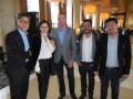 John Garcia, SVP & gerente general, y Tomás Davison, director de ventas de Warner Bros. Latin America con buyers de Chile: María de los Ángeles Ortiz,
