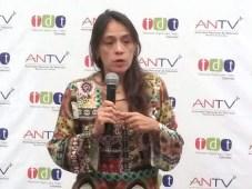 Ángela Mora, directora de la ANTV