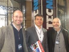 Paco Zegers, Andrés Villela, vicerrector académico de Duoc US y el director general de Tecné, Alejandro Wilson