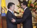 Colombia Juan Manuel Santos y David Luna