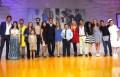 El elenco de Antes Muerta Que Lichita durante la presentación de Televisa
