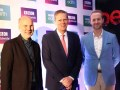 Neil Nightingale, Director Creativo de BBC Earth; Duncan Taylor, Embajador del Reino Unido en México, y Jon Farrar, SVP de programación y adquisicione