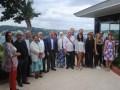 Dursun Topcu, VP y director ejecutivo de la Cámara de Comercio de Estambul (ITO) rodeado por miembros de la Cámara, productores y distribuidores que f