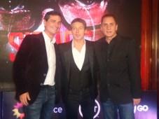 Felipe De Stefani junto a Adrán Suar y Fernando Blanco