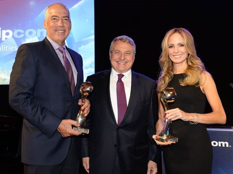 "Gary Newman and Dana Walden, joint chairman and CEOs of Fox Television Group (borders), received the recognition ""Personalities of the Year"" by Paul Z"
