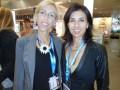 Manuela Caputi, gerente de ventas internacionales, con su asistente Paola Ciccarelli