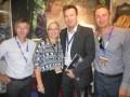 The Telexport/Ceska Televize cocktail, at last Mipcom: Hynek Chudarek, director of sales, and Lubos Kriz, manager, both at Ceska, with Alexandra Bezpalcova, acquisitions manager, Nova TV (Czech Republic) and Peter Chalupa, head of acquisitions, Markiza TV (Slovakia