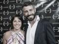 Carolina Cordero junto a Martín Lapissonde, director del Bawebfest (Foto: Camila Cruz)