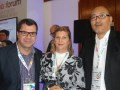 Cícero Aragon, presidente de Box Brazil; Odete Cruz, directora de la Asociación Brasileña de Productores de Obras Audiovisuales (Apro), y Newton Suzuki, de Band