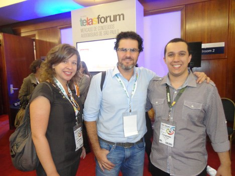 Ana Monte y Alexandre Grynberg, de la productora Dogs Can Fly, junto a Felipe Ferrari, content and production coordinator de Fox International Channels