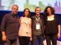 """Panel """"Coproducción y el Mercado Internacional"""": Kiko Mistrorigo, de TV Pinguim; Rachel do Valle, de BTVP; Marco Altberg, de ABPITV, y María Teresa Cu"""