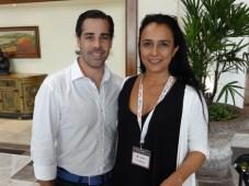 Jorge Granier, CEO de Latin Everywhere y productor ejecutivo de Jane the Virgin (CBS), con Catherine Dueñas, de Reed Midem y organizadora de los panel