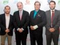 Carlos Cabezas, asesor jurídico de ACTVE; Guillermo Campanini, Carlos CoelloBeseke, presidente de la ACTVE, y Antonio Wanderley