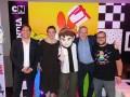 Pablo Zuccarino, Lisa Weger, VP de Licencias y Marketing Estratégico para Turner Kids, Barry Koch, SVP director general de Cartoon Network, Boomerang