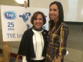 María Jesús Pérez junto a Fidela Navarro, directora de AZ TV de paga (Azteca)