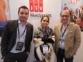Ahmet Ziyalar, managing director, rodeado por Pakize Atil, ejecutiva de ventas de ITV Inter Medya, y Ali Kanturvardar, director general de Raya Group